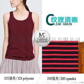 2016春夏新款现货,针织印花面料,涤氨汗布,拉架低弹力布