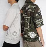 晶海夏季空调服 男女短袖风扇服工作服