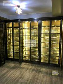不锈钢酒柜定制 会所**红酒展示柜 创意皇宫304不锈钢恒温酒柜