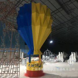 玻璃钢热气球雕塑大型工艺品雕塑摆件厂家直销定制