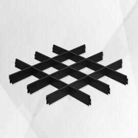 火锅店铝格栅吊顶 黑色铝格栅 葡萄架铝天花