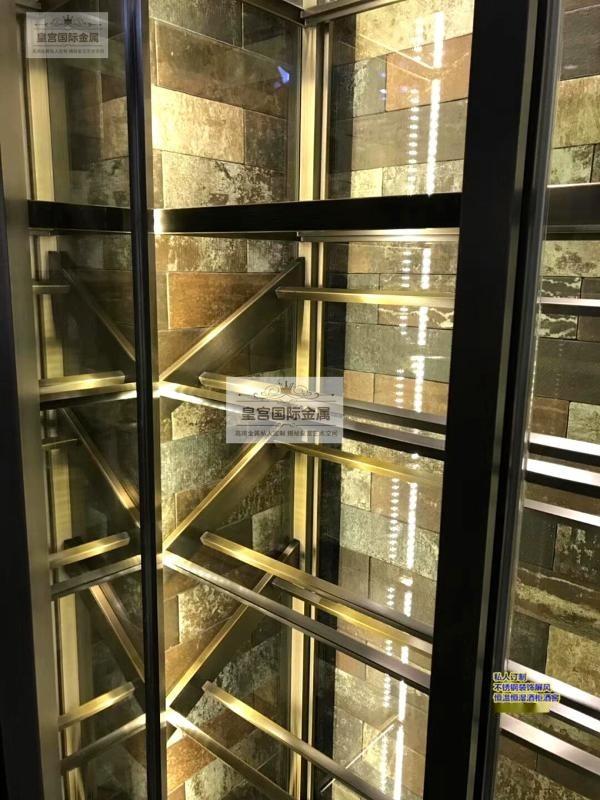 酒店KTV不鏽鋼恆溫酒櫃 不鏽鋼酒架 恆溫恆溼酒窖定製廠家