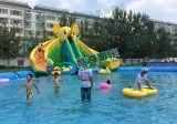 北京水上遊樂園充氣水滑梯 支架水池大型充氣滑梯 水上滑梯