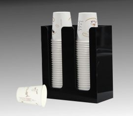 奶茶外带亚克力纸杯架星巴克咖啡店专用纸杯架塑料餐饮自取纸杯架