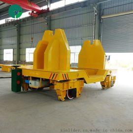 蓄电池钢包车现场视频轨道平车厂家提供
