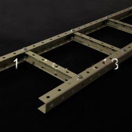 现货U型钢走线架 梯形桥架 机房走线架综合布线可定制1000mm*2.0