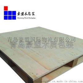 城阳木托盘厂家直销胶合板托盘四面进叉质优价廉