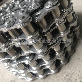 云鼎供应不锈钢碳钢双排高强度传动链滚子链条