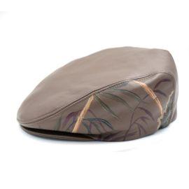 意大利 PASSAGRILLI 英伦系列纯手工棕色真皮鸭舌帽 GUGLIELMO 01