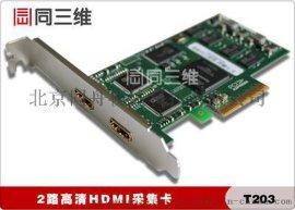 同三维T203 双 2路HDMI音视频高清采集卡 录直播融合会议
