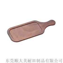 密胺披萨盘长方型厚薄两种1633-14B