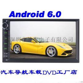 厂家直销捷友J2820HN安卓6.0高清1024*600无碟7寸电容触摸屏安卓6.0.1通用车载DVD收音机