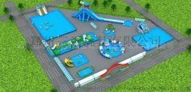 湖南怀化儿童水上乐园充气水滑梯圆形水池