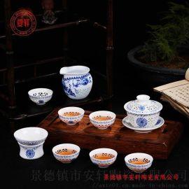 景德镇青花瓷礼品茶具生产厂家