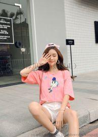 短袖韩版批发新款春季便宜男女装四季服装夏装T恤