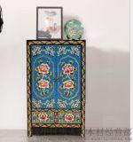 成都藏式家具 全手工彩绘家具成都唐人坊 仿古家具鞋柜 西藏家具地柜 储物柜