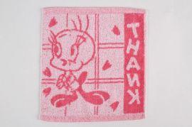 提花方巾25*25cm,单条25克色织提花卡通方巾