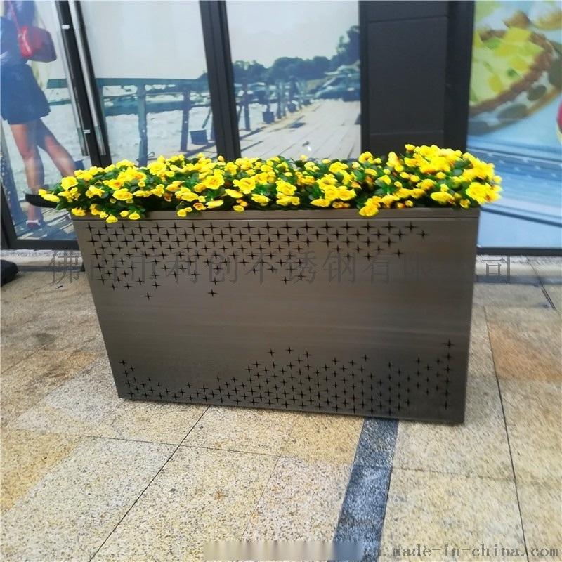 不锈钢花盆加工定制 酒店装饰花盆花器
