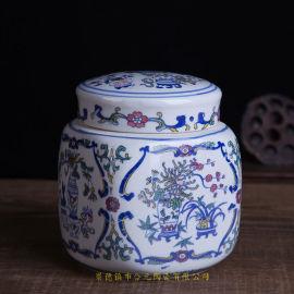 陶瓷中药膏方罐加字定做