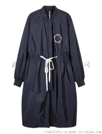 品牌服装进货网站【现货】花思薇长款风衣