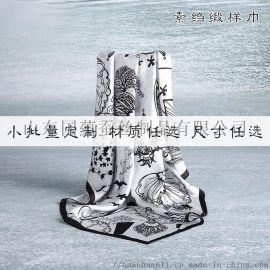 **丝巾定制来图来样logo丝绸礼品真丝围巾