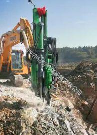 挖机改装潜孔钻钻劈一体机凿岩机裂劈机广西钻科