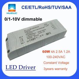 led调光恒压电源 圆形60w恒流驱动器 圆形面板灯电源