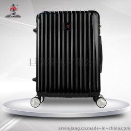 巨龙箱包PC122黑色/银色商务箱 24寸万向飞机轮拉杆箱行李箱