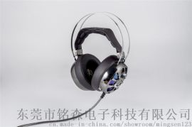 专为游戏一族设计,头戴式七彩钻石发光耳机