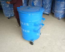 供应小区铁质垃圾桶 圆形大铁桶