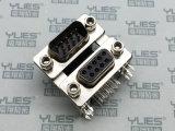 487-D-SUB連接器 公對母 鉚事雙爪魚叉 鎖