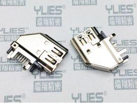 496-HDMI連接器 母座 側插式連接器