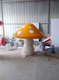 厂家直销 园林景观雕塑 大型蘑菇屋 植物卡通屋玻璃钢定做热销