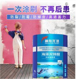 海藻泥除醛 净味墙面漆水性油漆 家用室内净味墙面乳胶漆