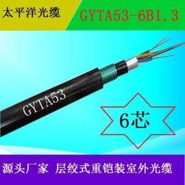 光缆源头厂家 GYTA53-6B 6芯 12芯 24芯单模 重铠装室外光缆 直埋