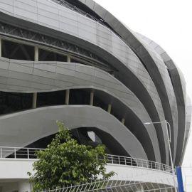 厂家直销弧形铝单板曲面建筑异型铝单板建材