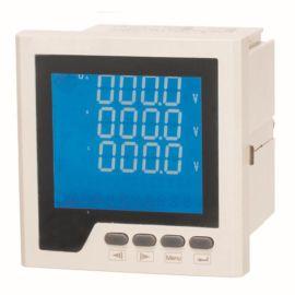 三相多功能电力仪表液晶显示嵌入式安装带485通讯接口厂家直销