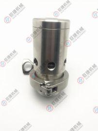 供应不锈钢卫生级弹簧式快装保压阀 自动排气泄压阀