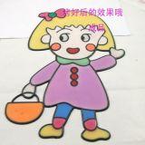 上海儿童胶画批发儿童烤焦画批发