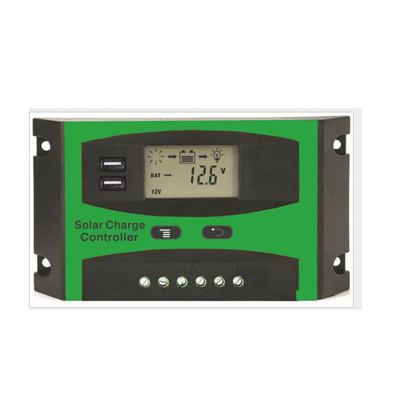 LD3024太阳能控制器绿色外壳双USB