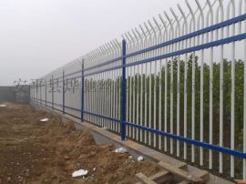 工厂围墙铁栏杆 蓝白色  锌钢护栏