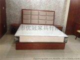 酒店家具床、宾馆客房单人床1.8米大床,酒店软包靠背床屏