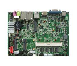 深圳灵江3.5寸双网口双核板载内存,多功能宽温车载工控机工业平板工业级主板,