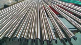 不锈钢圆管单槽 夹玻璃单槽管 扶手不锈钢单槽管厂家