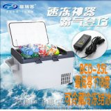 車載冰箱/攜帶型直流壓縮機冰箱/冷凍零下18℃/車家兩用冰箱25L