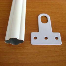 白色粉末喷涂免焊接铝合金防盗窗材料