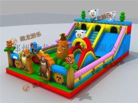 儿童充气玩具设备厂家,新款快乐嘉年华热卖,城堡充气弹跳滑梯去哪买
