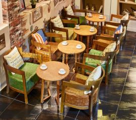 咖啡厅沙发 甜品店奶茶店茶餐厅双人卡座沙发西餐厅沙发桌椅组合