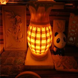 砂岩灯罩热带水果造型雕塑 人造砂岩菠萝发光灯饰定制