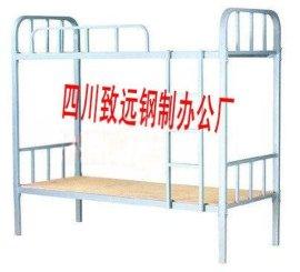 四川成都南充广元等定做心仪上下钢架床、致远制造专利高低床宿舍公寓床
